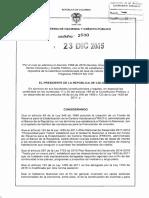 Frech No Vis 2016 - Decreto 2500 Del 23 de Diciembre de 2015
