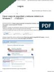 Hacer Copia de Seguridad y Restaurar Sistema en Windows 7 - Tutoriales Para Vagos