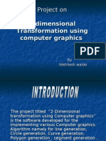 2-dimensional Transformation using computer graphics