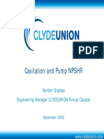 Cavitation and Pump NPSHr