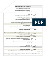 Grease Trap Calculations Template