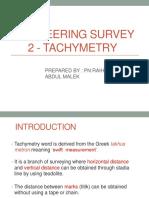 Surveying (Lecture Tachemetry Stadia)