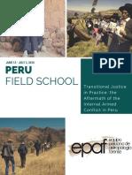 Peru Field School 2016 Brochure