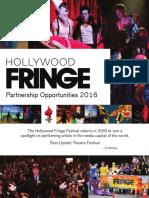 Hollywood Fringe 2016 Sponsorship Packet