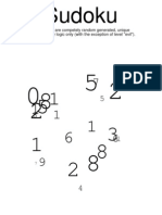 Sudoku Medium August09