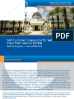 1401 SAP Customer Connection for SAP EAM Plant Maintenance 2014