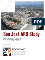 San Jose Rent Control, preliminary study