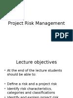 Lecture 10 Project Risk Management