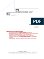 Statement of Business Requirements SoBR Template