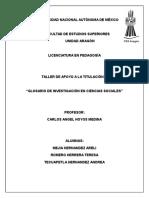 Glosario de Investigación en Ciencias Sociales