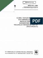 Spln 43-4-1994 Kabel Tanah Berisolasi Dan Berselubung Pvc Dg