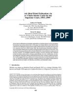 Dynamic Ideal Point Estimation via Markov Chain Monte Carlo for the U.S. Supreme Court, 1953-1999