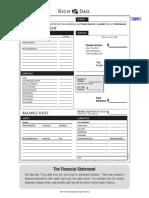Rich Dad Balance Sheet cashflow