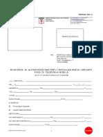 Richiesta di autorizzazione per l'installazione di impianti fissi di telefonia mobile