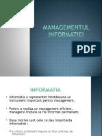 7. Managementul informatiei