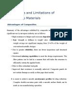 Advantages and Limitations of Composites Materials