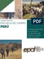 Escuela de Campo Perú  2016