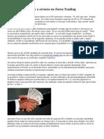 Cómo hacer frente a errores en Forex Trading