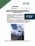 20160315Nota de Prensa Mayu Telecomunicaciones Final