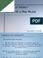 Libertad de Prensa y Doctrina de La Real Malicia