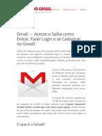 Design da Página de Gmail Entrar