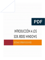 Introducción a Los SOR. Redes Windows