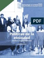 Christian Gros - Políticas de la etnicidad
