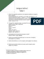 Lengua Latina I Taller I 2015