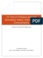 Un Nuevo Enfoque de Los Conceptos Datos, Información, Conocimiento-