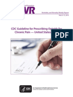 CDC Guideline for Prescribing Opioids for Chronic Pain, United States, 2016