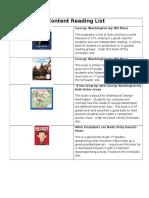 content reading list