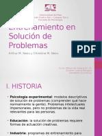 Entrenamiento en Solución de Problemas