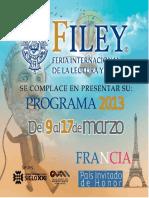 Programa Oficial OficiaL FILEY 2013