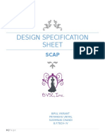 Design Specification Sheet- SCAP
