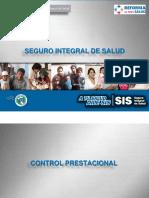 Procesos de Control PrPROCESOS DE CONTROL PRESTACIONAL DEL SEGURO INTEGRAL DE SALUDestacional Del Seguro Integral de Salud