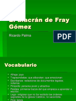 vocabulario el alacran de Fray Gomez