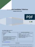 [Philippine Elections 2010] Senatorial Candidates Matrices