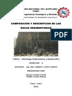 Composición y Descripción de Las Rocas Sedimentarias