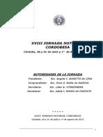Conclusiones Xviii Jornada Notarial Cordobesa 2015