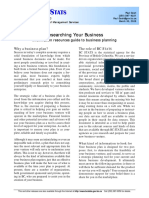 Researching Your Business Information Resources Guide to Business Planning