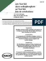 Kit de Fosfato Hach Modelo Po-19
