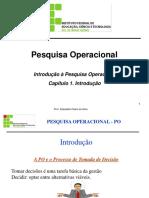 Aula 1 Introdução à Pesquisa Operacional