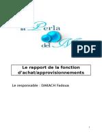 Rapport de La Fonction ACHAT (1)