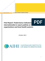 Final Report NHPA International Performance Indicators AIHI