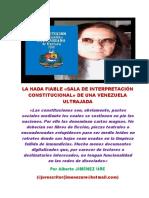 La Nada Fiable «Sala de Interpretación Constitucional» de Una Venezuela Ultrajada