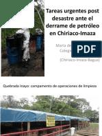 Tareas urgentes ante derrame de petróleo en Imaza-Chiriaco
