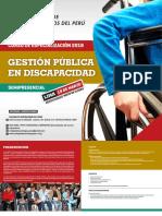 Cuatríptico Gestión Pública en Discapacidad 23 x 20 Cms LIMA