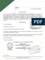 Convocatoria a la Quincuaguésima Sesióm Ordinaria del R. Ayuntamiento de Matamoros