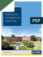 Instructivo de Matrícula en Competencias Específicas UTPL