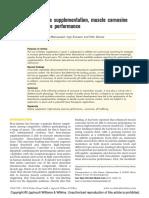 Beta-alanine supplementation, muscle carnosine and exercise performance